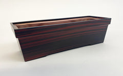 "8"" Long Red Sandalwood Incense Burner with Removable Metal Insert (Display Model)"