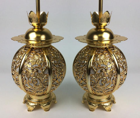 Small Gold Hanging Lanterns