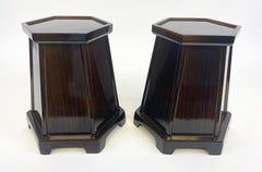 "Used 10"" Tall Ebony Vase Stands"