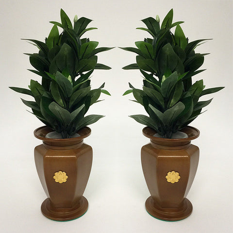 "6.5"" H Maple / Oak Colored Vases with S.G.I. Logo"