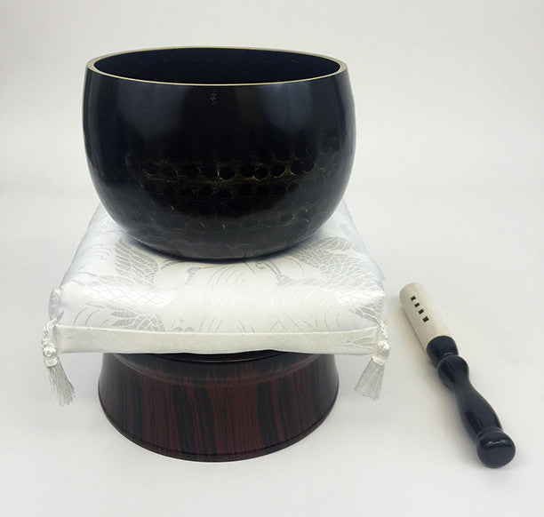 "No. 5 Bell (6.75"" Diameter) with White Cushion and Red Sandalwood Base"