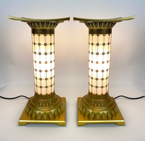 Large Golden Standing Lanterns