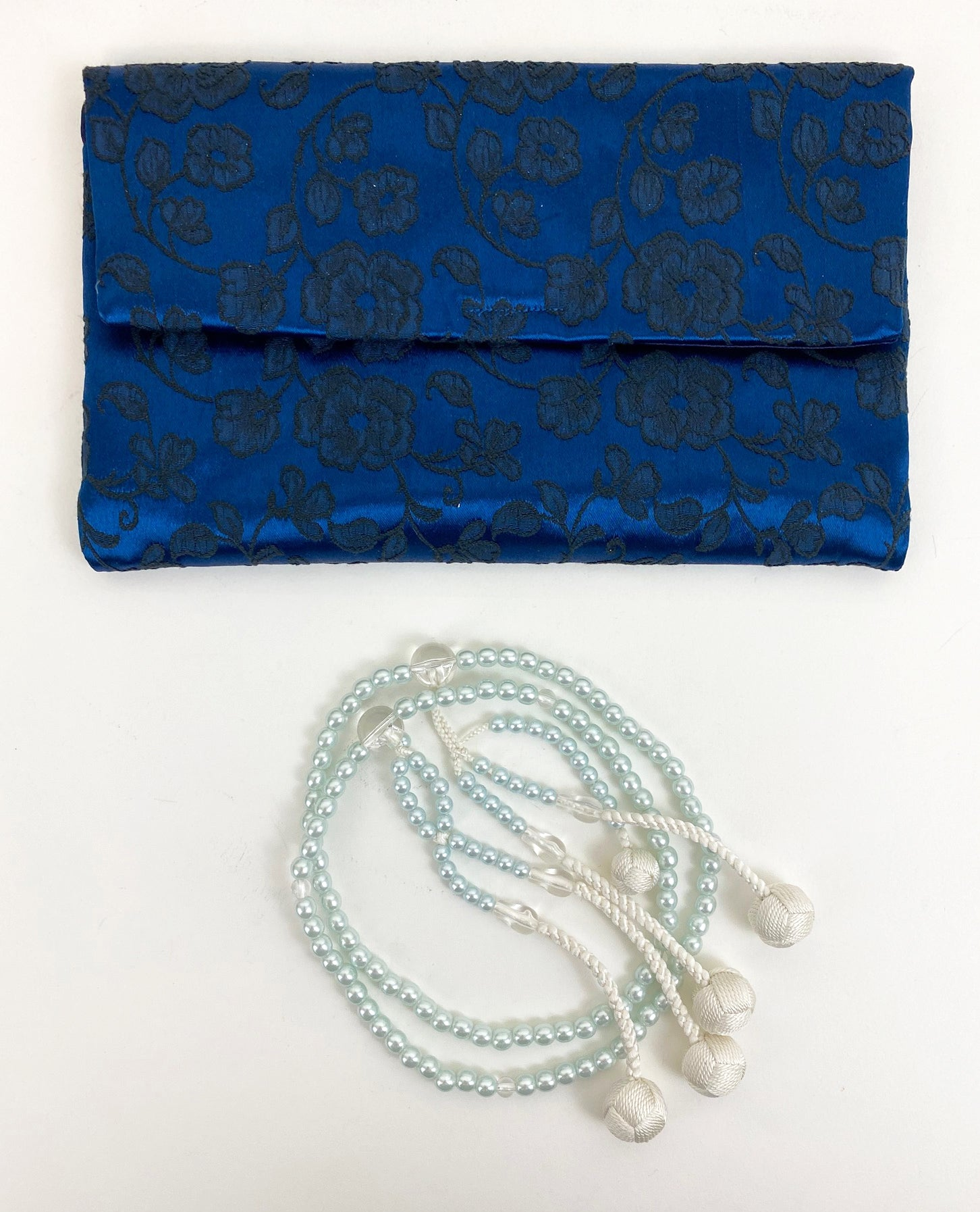 Pearl Blue Beads Set - Large Beads (Extra Large Beads Case)