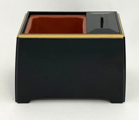 Premium Black with Gold Trim Powdered Incense Burner