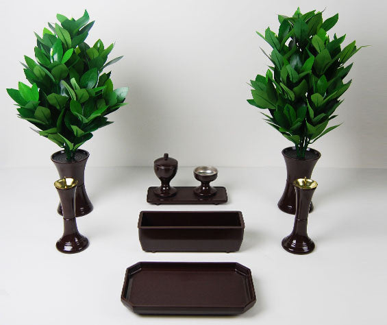 9 Piece Walnut Butsugu Set