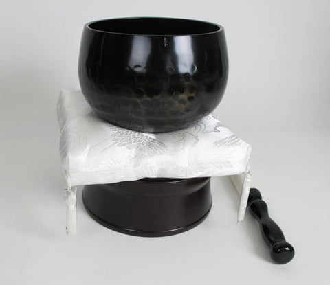 "No. 4.5 (5.6"" Diameter) White Cushion & Black Base Bell Set"