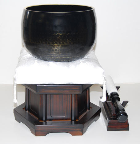 "No. 7 Bell (8.5"" Diameter) with White Cushion and Ebony Base"