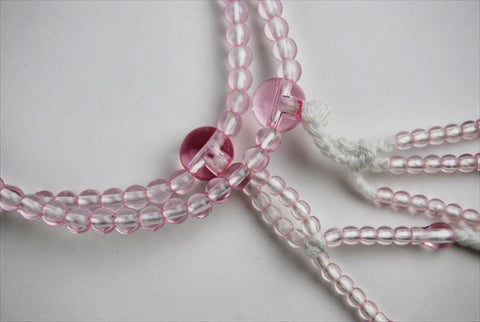 Clear Pink Beads