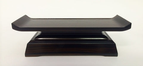 "7.5"" L Brown Ebony Water Cup Table (Display Model)"