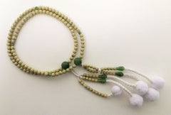 Faux Lindenwood Beads with Jade