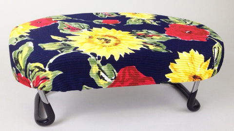 Asian-size Folding Bench for Petite (Navy with Sunflowers)