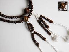 Ironwood Beads with S.G.I. Logo and Silk Knitted Tassels