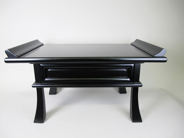 #20 Black Kyo Table with Pull-out Drawer