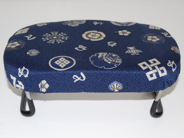Asian-size Folding Bench for Petite (Navy with Japanese Print)