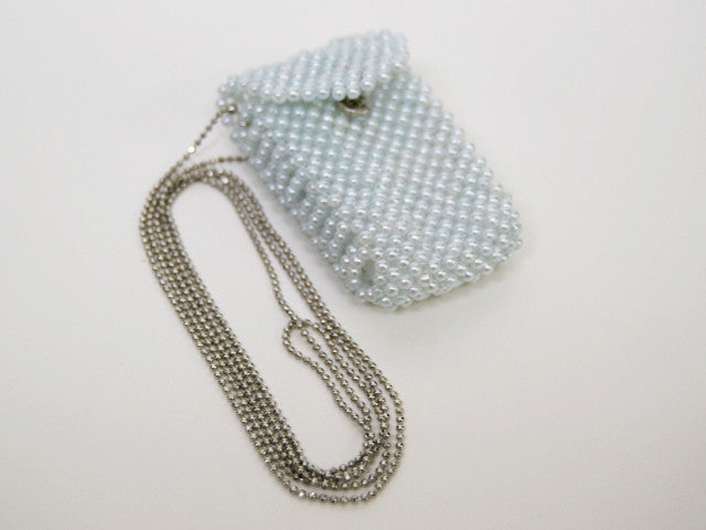 Blue Beaded Omamori Gohonzon Case with Chain