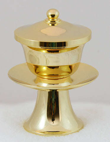 Premium Golden Water Cup with Removable Metal Insert