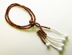 Premium Sandalwood Beads with Silk Knitted Tassels