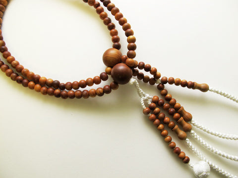 Premium Sandalwood Beads with Silk Knitted Tassel