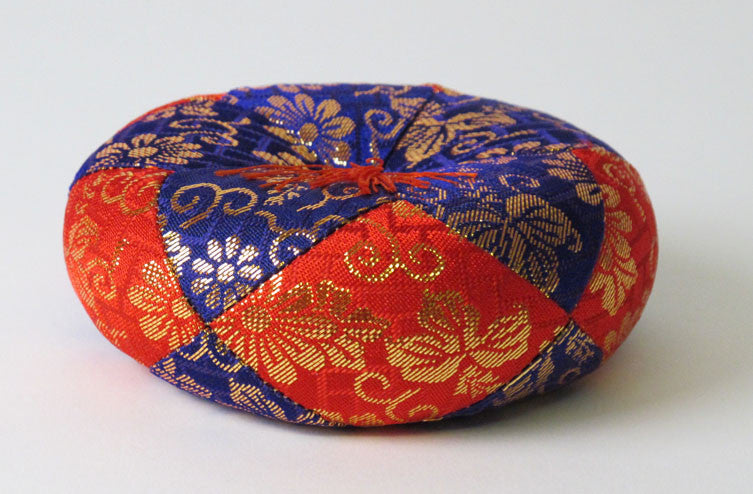 "Purple & Red Round Bell Cushion for No. 2.8 (3.5"" Diameter) Bell"