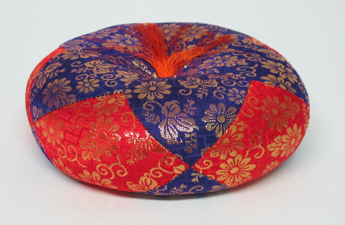 "Purple & Red Round Bell Cushion for No. 6 (6.75"" Diameter) Bell"