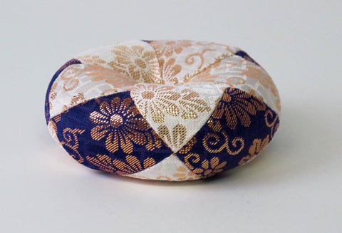 "Purple & White Round Bell Cushion for No. 2.8 (3.5"" Diameter) Bell"