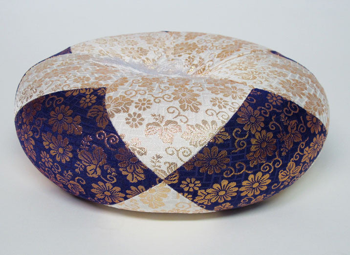 "Extra Large (19"" Diameter) Purple & White Round Bell Cushion"