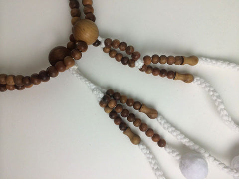 Premium Sandalwood Beads with Cotton Tassels