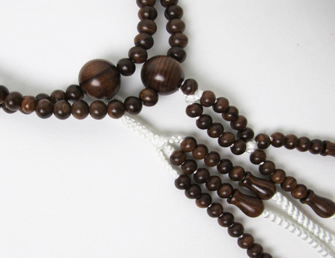 New Sandalwood Beads with Silk Knitted Tassels