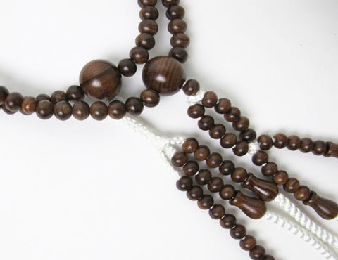 New Sandalwood Beads with Silk Knitted Tassel