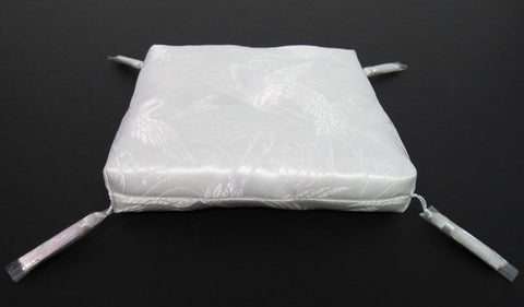 "White Square Bell Cushion for No. 3 (3.5"" Diameter) Bell"