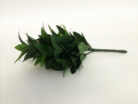 "Small Silk Shikimi Leaves (12"" Long)"