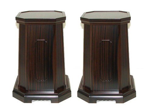"12"" Tall Ebony Vase Stands"
