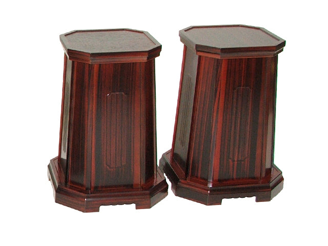 "10"" Tall Red Sandalwood Vase Stands"