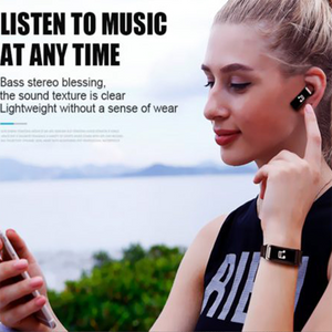 2-in-1 Smart Bracelet with Bluetooth Earphone - Engineracing