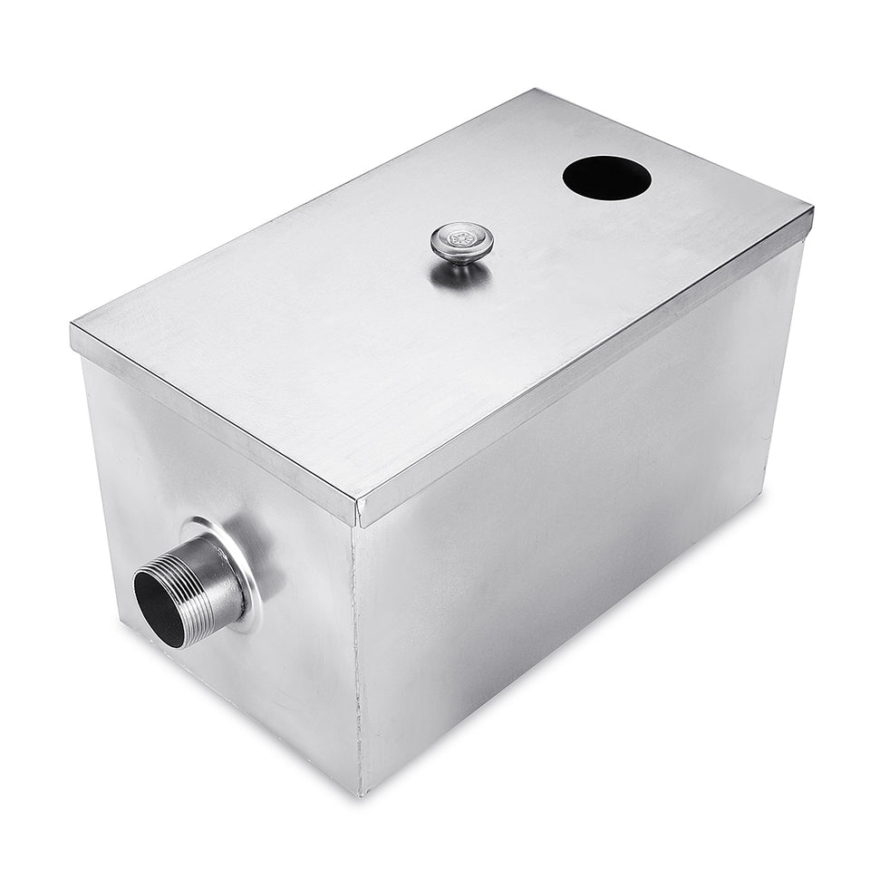 8LB 5GPM Gallons Per Minute Grease Trap Stainless Steel Interceptor Thickened