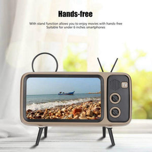 2-in-1 Retro TV Phone Holder & Speaker - Engineracing