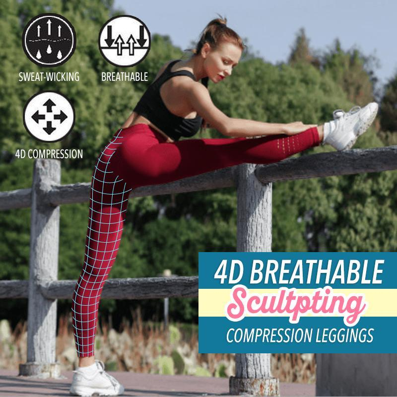 4D Breathable Sculpting Compression Leggings - Engineracing