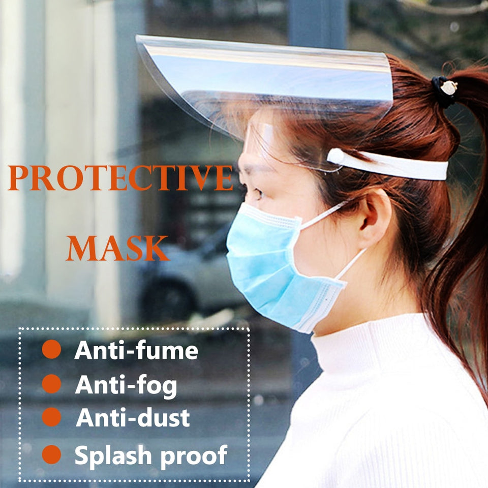Full-Cover Mask Anti-Droplets Face Shield Dust Proof
