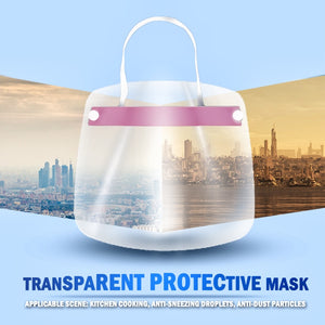 Dust Protection Covering Face Shield Transparent Adjustable Full Shield Breathable For Adult Kids Anti Droplet Full Face Cover