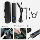 Car Wireless Inflatable Pump 12V Portable Car Air Pumps Electric Tire Inflator LCD Digital Rechargeable For Auto Emergency