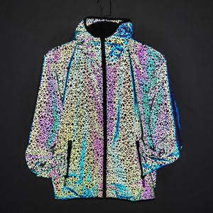 Colorful Stripe Reflective Jacket