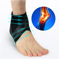 Ankle Support Socks Men Women Lightweight Breathable Compression Anti Sprain Left / Right Feet Sleeve Heel Cover Protective Wrap