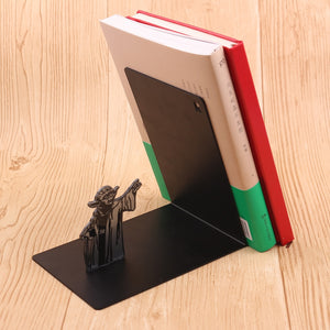 Star Wars Bookrack Master Yoda Decorations Stainless Steel Black Bookend Bookshelf For Book Holders Gifts Student Study Gift