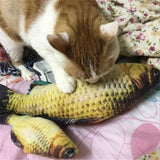 20cm/30cm/40m Artificial Catmint Fish Toys Cats Catnip Playing Vivid Crucian Kitten Pet Cat Soft Funny Toy Supplies Accessories