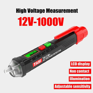 ZEAST AC/DC Digital Display Multi-function Induction Test Pencil Sound/Light Alarm AC / 12~1000V Non-Contact Voltage Detector