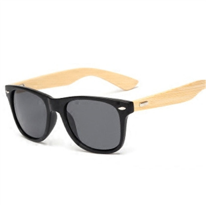 Bamboo Sunglasses Men Women Travel Goggles Sun Glasses Vintage Wooden Leg Eyeglasses Fashion Brand Design Sunglasses Male Female