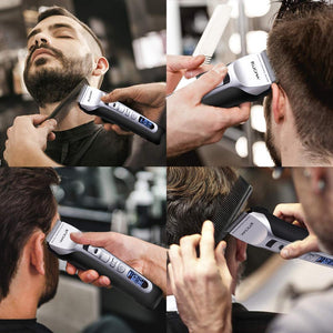Rechargeable Electric Shaving Machine Razor Beard Hair cut Clipper Trimmer LCD Display Professional Salon