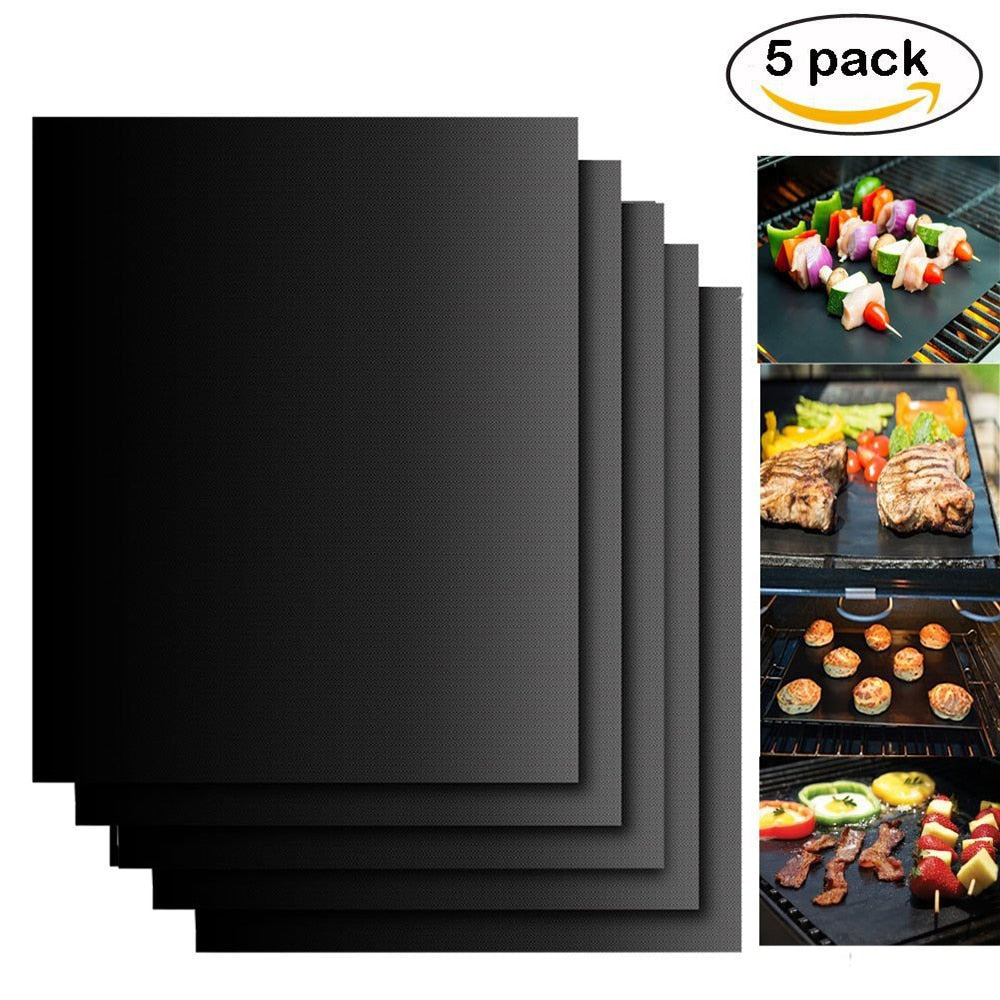 BBQ Grill Mat Teflon Non-Stick BBQ Accessories 40*30cm/16*12In Baking Oven Barbecue Mat Reusable Tools Party Outdoor Grill