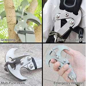 STAINLESS STEEL SURVIVAL FOLDING GRAVITY HOOK - Engineracing