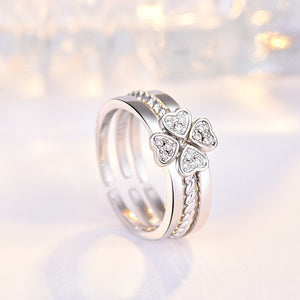 3-in-1 Elegant Four Leaf Clover Ring - Engineracing